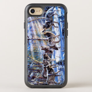 Wolf painting - wolf art - wolf illustration OtterBox symmetry iPhone 8/7 case