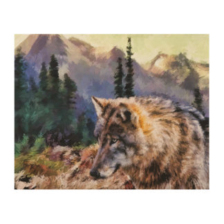 Wolf Painting Wood Canvases