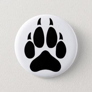 Wolf Paw 2 Inch Round Button