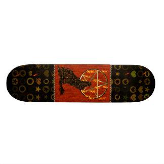 Wolf Pentagram Skate Board Deck