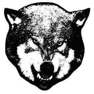 Wolf Photo Sculpture Keychain