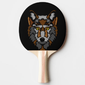 wolf ping pong paddle