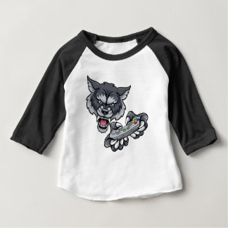 Wolf Player Gamer Mascot Baby T-Shirt