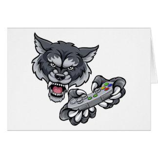 Wolf Player Gamer Mascot Card