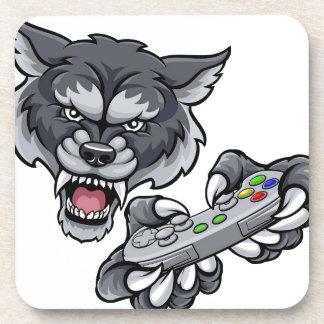 Wolf Player Gamer Mascot Coaster