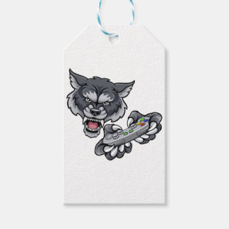 Wolf Player Gamer Mascot Gift Tags