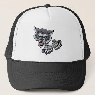 Wolf Player Gamer Mascot Trucker Hat