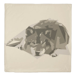 Wolf polygon art illustration duvet cover