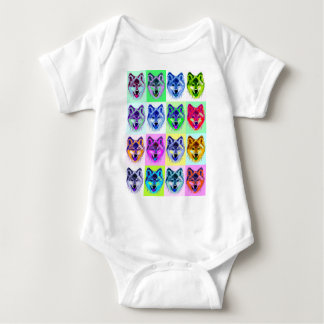 Wolf Pop Art Baby Bodysuit