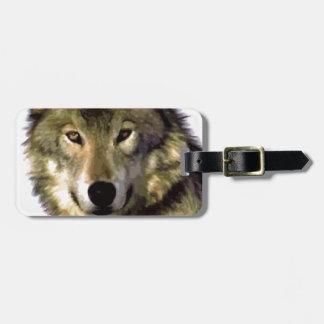 Wolf Portrait Luggage Tag