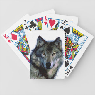Wolf Portrait Poker Deck