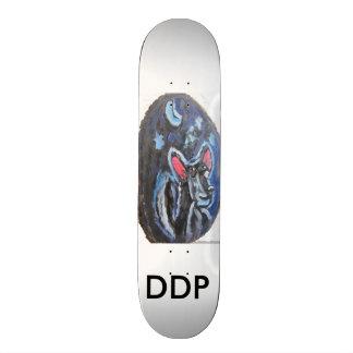 wolf portrait skate board