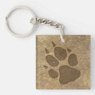 Wolf Print Keychain
