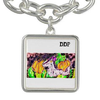 wolf pumpkins art bracelet