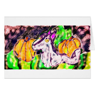 wolf pumpkins art card