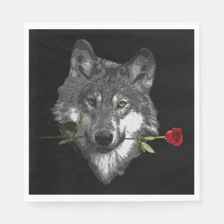 Wolf Rose Disposable Napkins