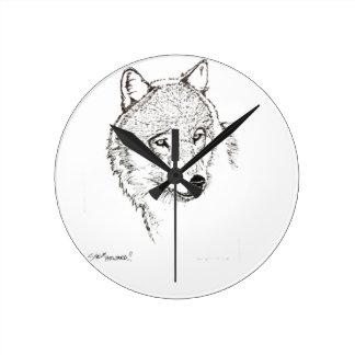 Wolf Round Clock