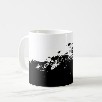 Wolf scape in Black and White Coffee Mug