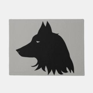 Wolf Silhouette Doormat