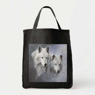Wolf Snow Buddies Tote Bag