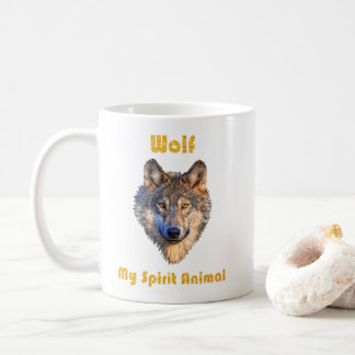 Wolf Spirit Animal Mug/Wolf Mugs/Wolf Gift/ Coffee Mug