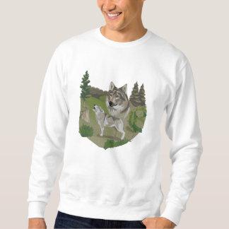 Wolf Spirit Embroidered Sweatshirt