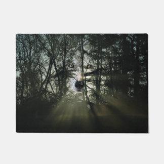 Wolf spirit in the woods doormat