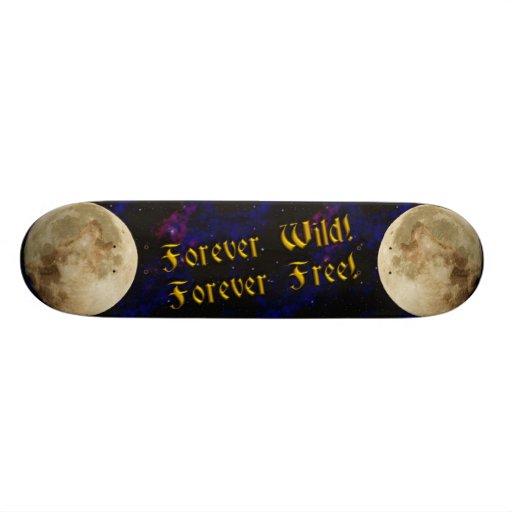 wolf spirit skate board deck