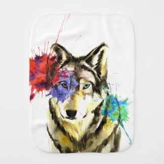 Wolf Splatter Burp Cloth