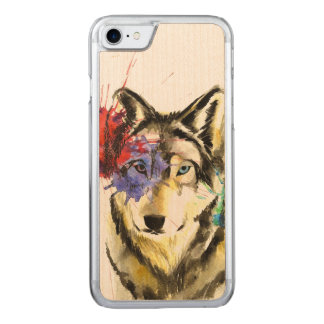 Wolf Splatter Carved iPhone 8/7 Case