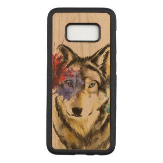 Wolf Splatter Carved Samsung Galaxy S8 Case
