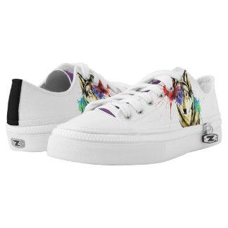 Wolf Splatter Low-Top Sneakers