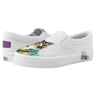Wolf Splatter Slip-On Sneakers