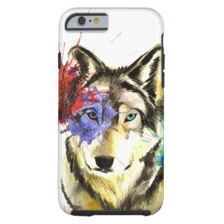 Wolf Splatter Tough iPhone 6 Case