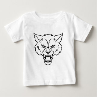 Wolf Sports Mascot Angry Face Baby T-Shirt
