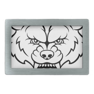 Wolf Sports Mascot Angry Face Belt Buckles