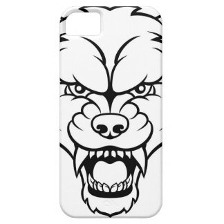 Wolf Sports Mascot Angry Face Case For The iPhone 5