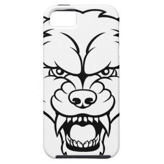 Wolf Sports Mascot Angry Face iPhone 5 Cases