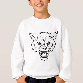Wolf Sports Mascot Angry Face Sweatshirt