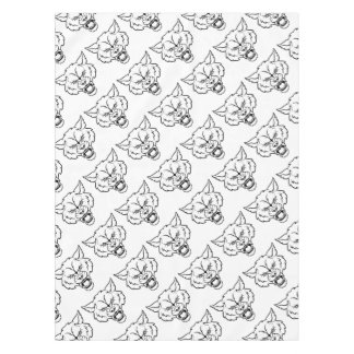 Wolf Sports Mascot Angry Face Tablecloth
