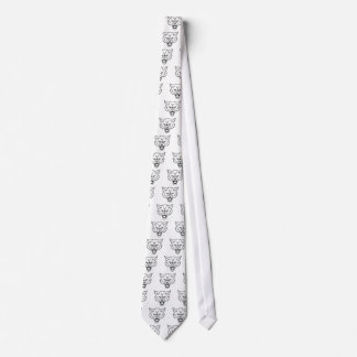 Wolf Sports Mascot Angry Face Tie