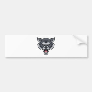 Wolf Sports Mascot Bumper Sticker