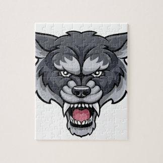 Wolf Sports Mascot Jigsaw Puzzle