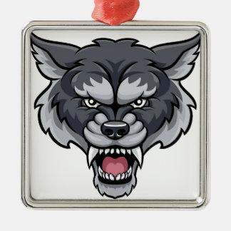 Wolf Sports Mascot Metal Ornament