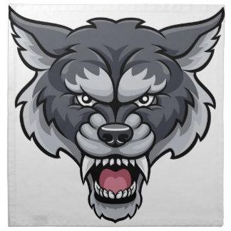 Wolf Sports Mascot Napkin
