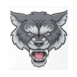 Wolf Sports Mascot Notepad
