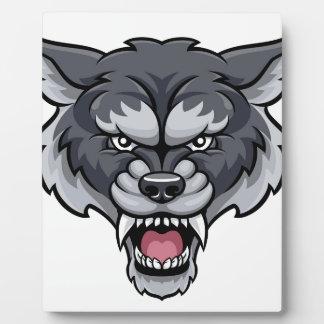 Wolf Sports Mascot Plaque