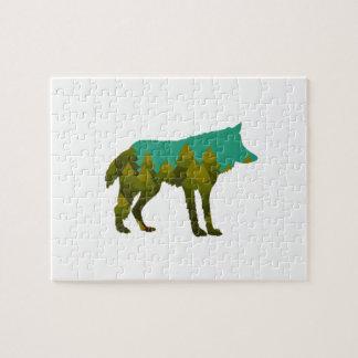 Wolf stroll jigsaw puzzle