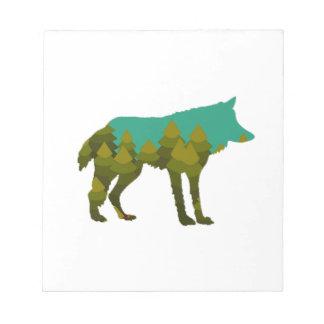 Wolf stroll notepad