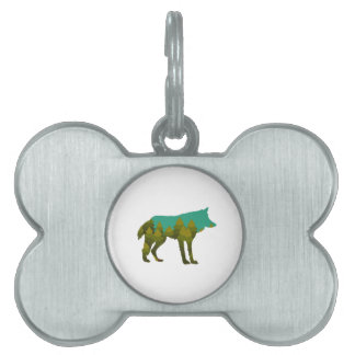 Wolf stroll pet ID tag